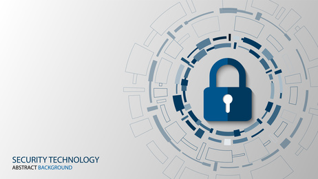 Cyber technology security, netwok protection background design, vector illustration